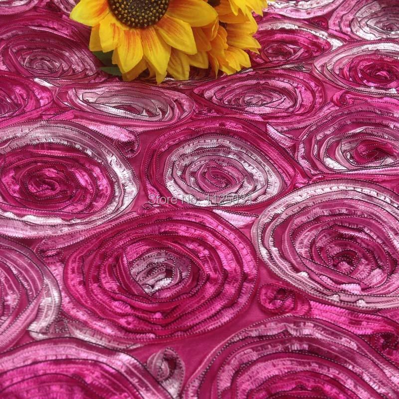 1 yarda 91*130 cm, tafetán cinta círculo bordado tela, textil decorativo hogar escenario ornamento tapicería tejido Diy tela