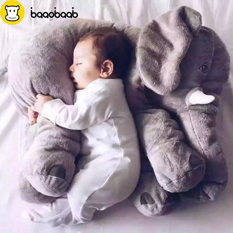 BAAOBAAB 65 cm Cartoon Große Plüsch Elefant Spielzeug Kinder Schlafen Zurück Kissen Stofftier Kissen Elefanten Baby Puppe Geburtstag Geschenk