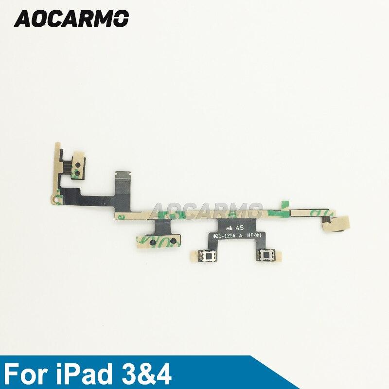 Aocarmo interruptor de encendido/apagado botón de volumen silencioso Cable flexible para iPad...