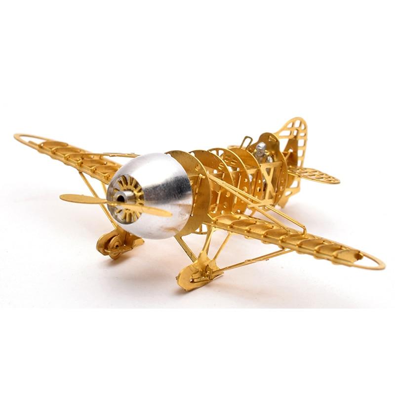 3D Metal Puzzle GeeBee Racer R-2 Airplane B16006 DIY 3D Laser Cut Assemble Models Toys For Audit