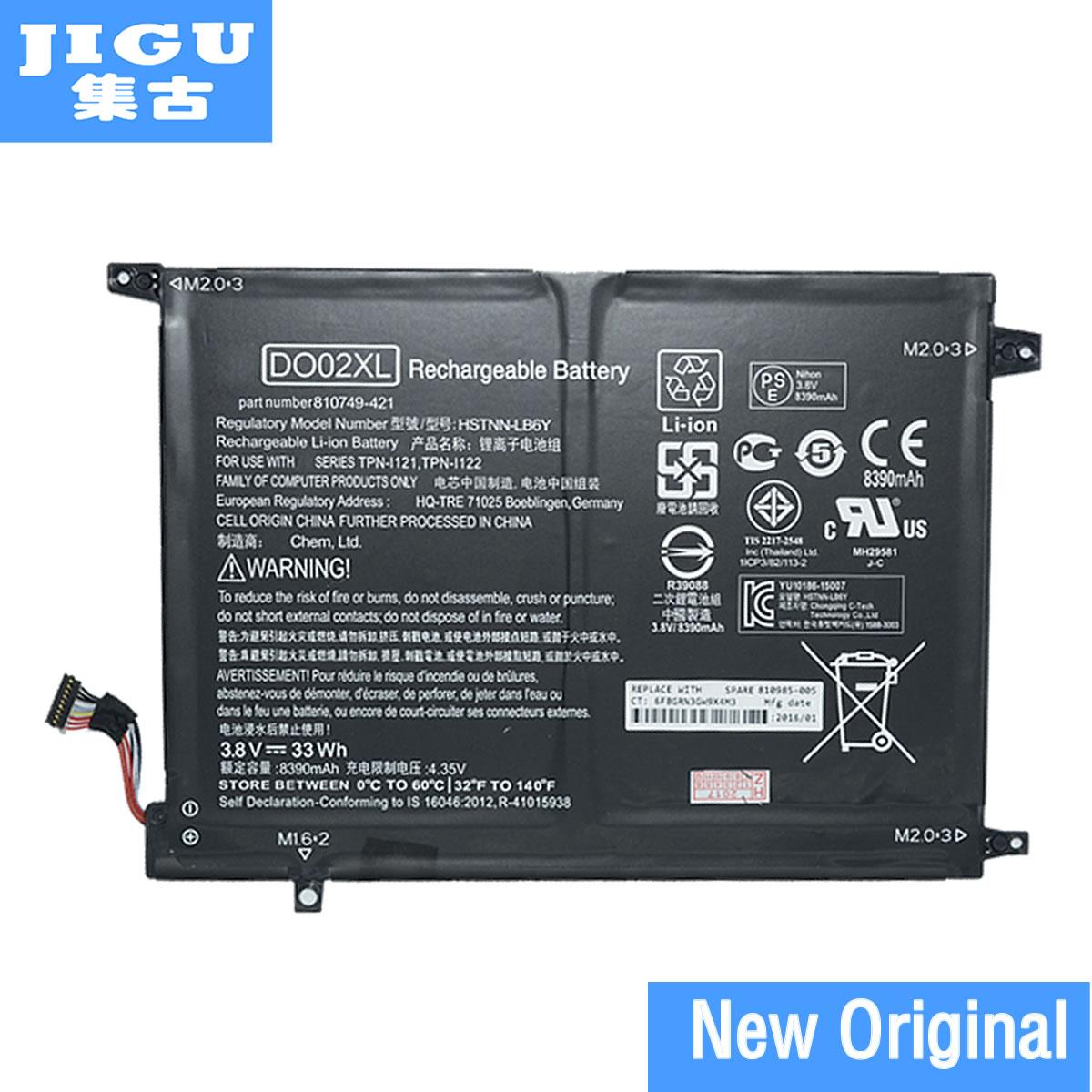 JIGU الأصلي بطارية كمبيوتر محمول 810749-421 810985-005 DO02XL HSTNN-LB6Y TPN-I121 TPN-I122 لإتش بي جناح x2 10