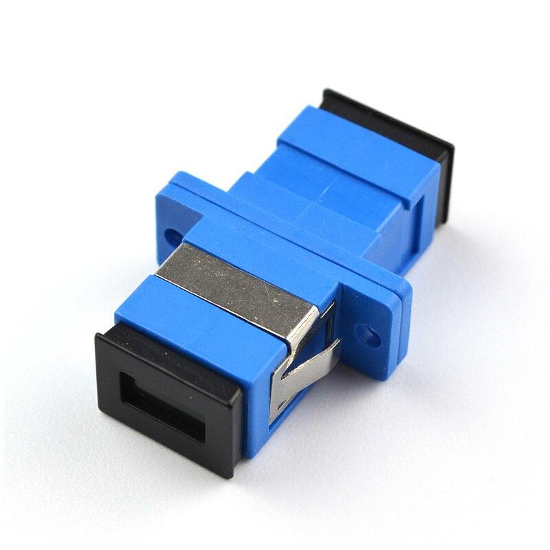 SC-SC Single Flange SC Fiber Coupler Flange Optical Fiber Connector Adapter In Telecom Level  Communication Converter enlarge