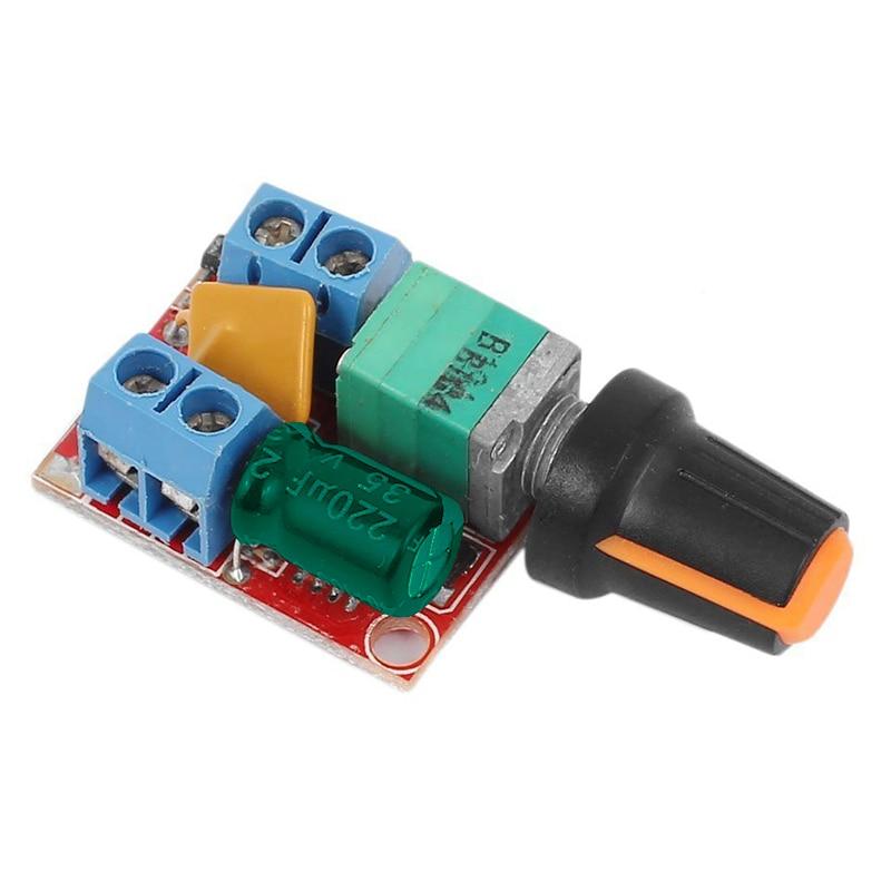 Carte de contrôle de vitesse de moteur à courant continu 3 V-35 V 5A PWM contrôleur continu cc 3V 6V 12V 24V 35V variateur de tension Variable G