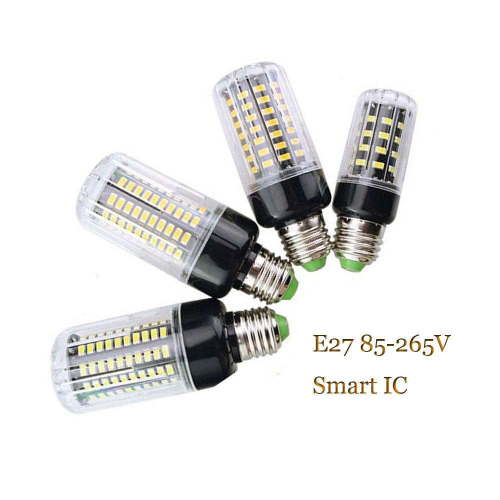 Bombillas led tipo mazorca SMD5736 E27 No parpadeo IC inteligente bombilla led para lámpara AC85-265V ampolletas de luz led para la lámpara de araña 220V 110V