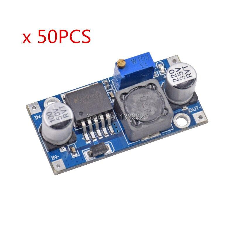 50 pces lm2596 lm2596s adj módulo de fonte de alimentação DC-DC step-down módulo 5 v/12 v/24 v regulador de tensão ajustável 3a
