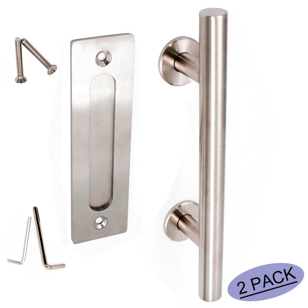 Набор ручек для раздвижных дверей LS08BSN из матового никеля, мебельная фурнитура для раздвижных дверей, ручка для пальцев, нержавеющая 2 упако...