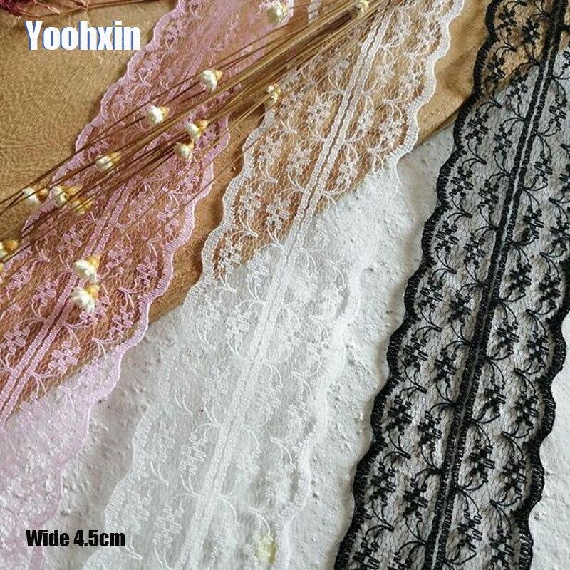 4,5 см в ширину; Лидер продаж; Цвет черный, белый, розовый; Цветочная вышивка из кружевной ткани; Отделка лентой; Сделай Сам; шитье; аппликация; ...