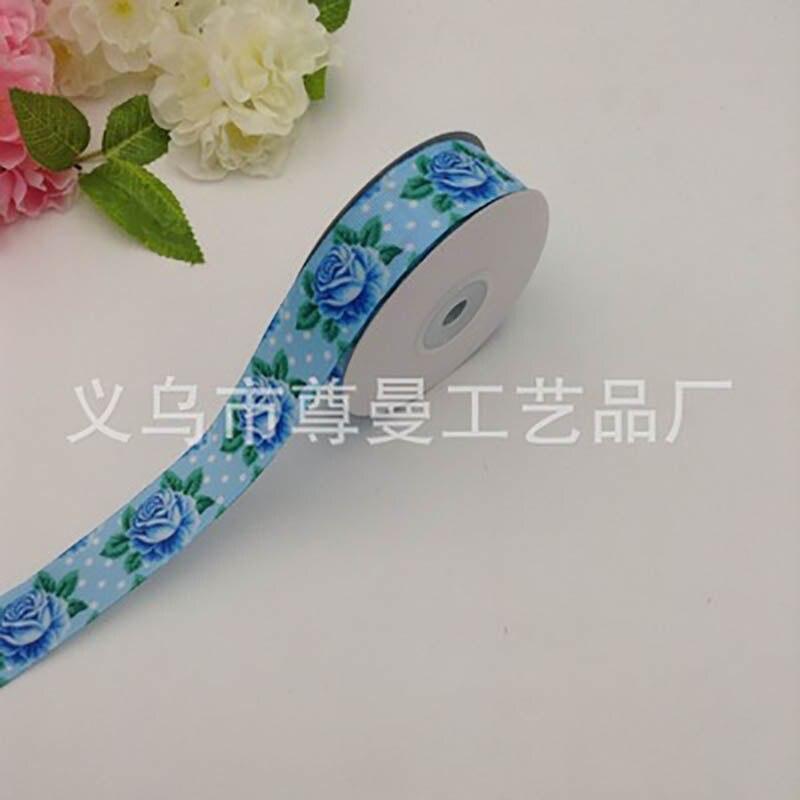 Nueva cinta de impresión Digital DIY de alta calidad línea de transferencia de calor azul Rosa Día de San Valentín empaque de ramo cinta personalizada