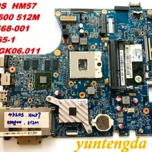 Original FOR HP 4520S  Laptop Motherboard  HM57 HD4500 512M 598668-001  H9265-1  48.4GK06.011 tested