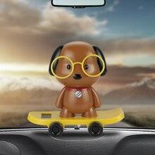 Автомобильный орнамент, Автомобильная солнечная Танцующая собака, куклы, приборная панель, украшение, игрушки, авто интерьер, домашний скей...