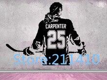 Hockey Mädchen Wand Aufkleber Personalisierte Name Frauen-Mädchen eis Hockey-Spieler-wählen jersey name & zahlen hockey wand Aufkleber a286