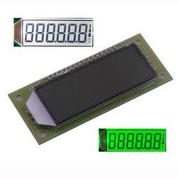 Módulo lcd 2.4 polegadas 6 dígitos 7 segmento display lcd módulo ht1621 lcd driver ic com ponto decimal luz de fundo branco cor verde
