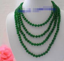 """Popular longo 100 """"8mm rodada verde bruto contas de colar"""