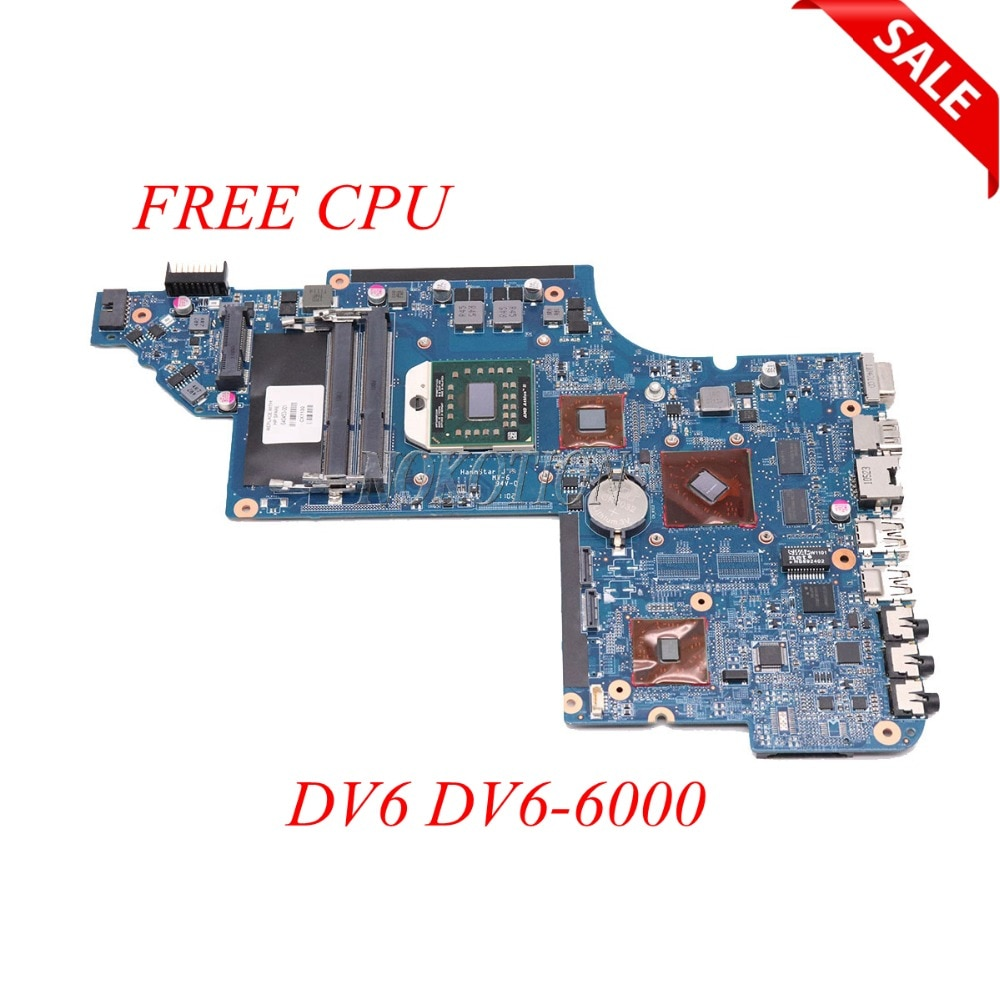 NOKOTION 640453-001 Para Hp DV6 DDR3 DV6-6000 laptop motherboard placa Principal completo testado CPU LIVRE