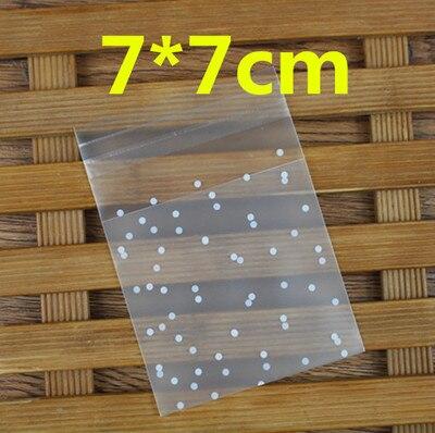 "100 piezas de bolsas de OPP lindos puntos bolsas 7x7 cm 2,75 pulgadas 10x10 cm 3,9"" REGALO PARA HORNEAR galleta pastel caramelo bolsa"