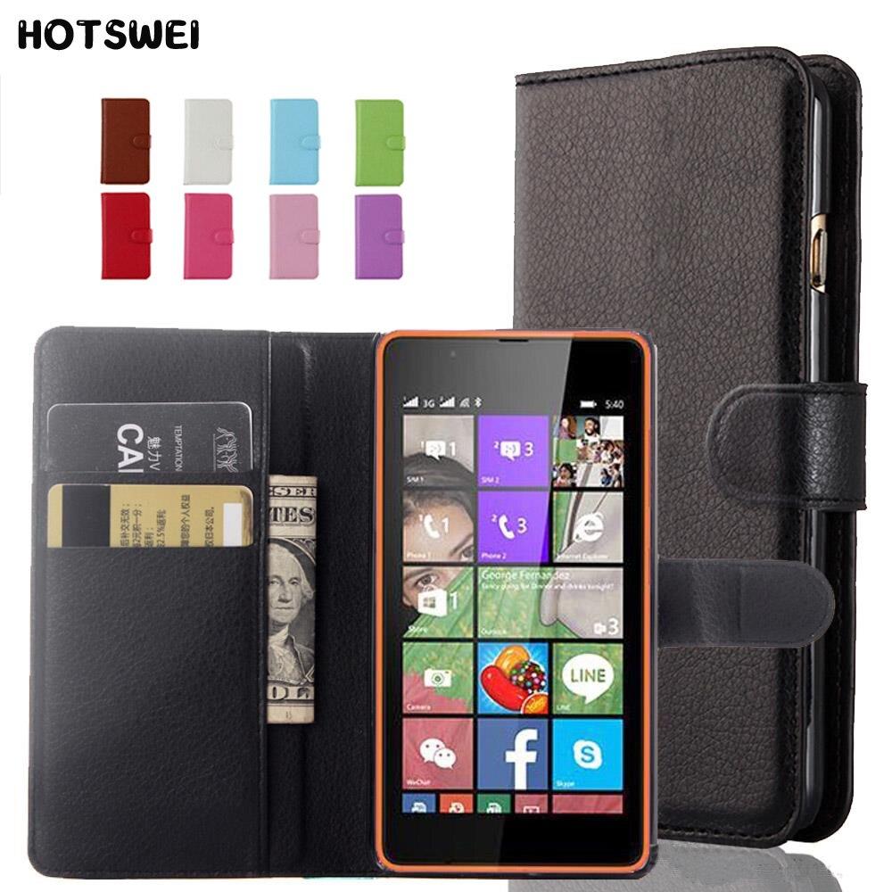 HOTSWEI Luxury Wallet PU Leather Case For Nokia Lumia Microsoft Lumia 430 435 520 530 535 550 620 625 630 640 650 730 Flip Case