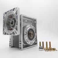 Worm Gearbox Reducer NMRV063 100:1 22mm Single Input Shaft Worm Gear Speed Reducer for NEMA52 Servo Motor Stepper Motor