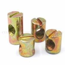 20pcs M8x15Lx12D M8x20Lx12D Bed Bolt Nut Barrel Nut Cross Dowel Beds Cots Furniture Nut