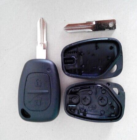 Carcasa de llave remota de 2 botones para RENAULT Traffic Master Vivaro Movano Kangoo, carcasa en blanco para coche