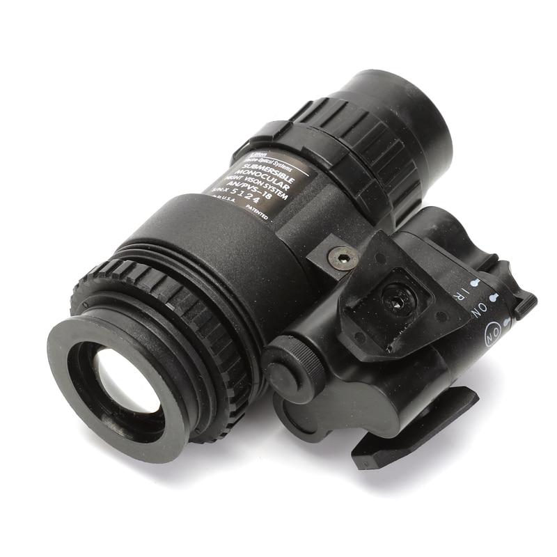 Tático manequim visão noturna capacete peças PVS-18 nvg nenhuma função modelo airsoft capacete acessórios