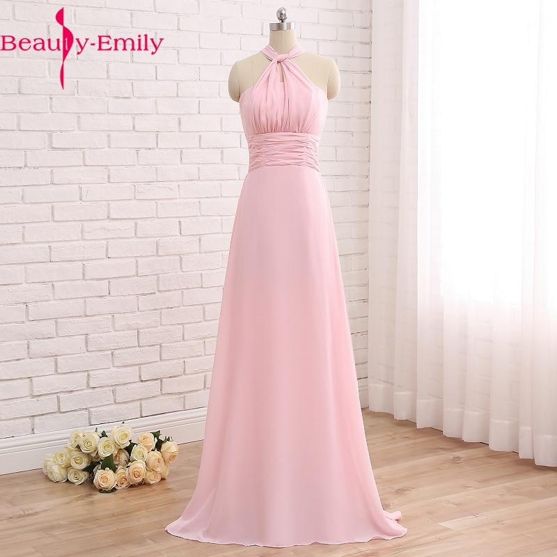 2018 vestido de baile rosa verão festa de formatura chiffon vestidos de noite multi-vestindo vestidos de baile baratos