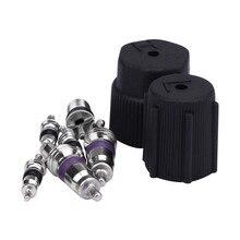 Франшиза автомобиля AC A/C система колпачок и сердечники клапана Santech быстрое уплотнение комплект кондиционер услуги #0610