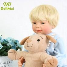 56 centimetri 100% completo del corpo del vinile del silicone neonati reborn bambole fatto a mano bebe reborn biondo dei capelli della ragazza del ragazzo di compleanno bambole giocattolo regalo lol