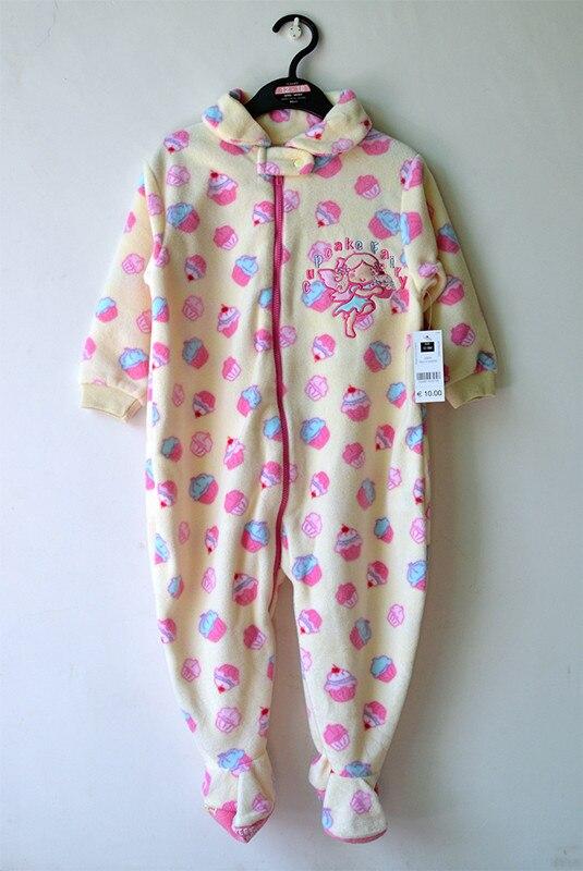 Купить с кэшбэком 2020 New Arrival Child Polar Fabric One Piece Sleepwear Derlook Romper Spring And Autumn Of Small Male Female Baby Plus Size