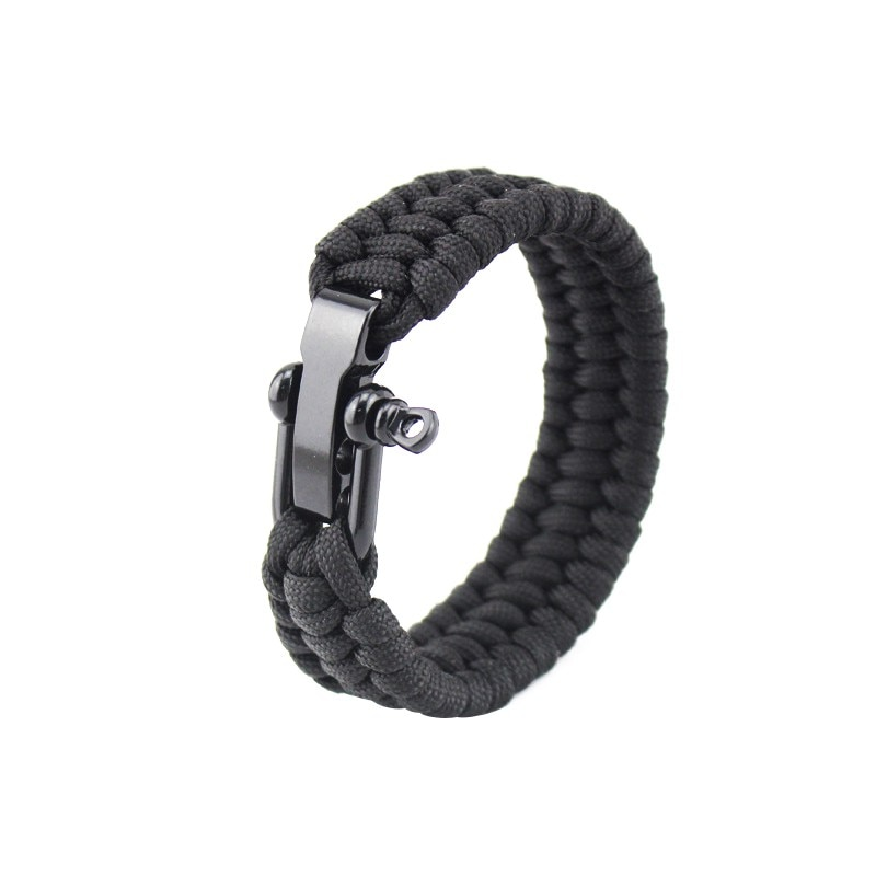 Camping Hiking Emergency Paracord Tactical Survival Braided Pulseras Rescue Umbrella Rope Outdoor Bracelets Parachute Cord
