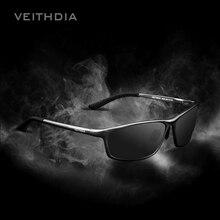 Veithdia alumínio polarizado óculos de sol dos homens marca designer azul espelho óculos de sol óculos de condução acessórios 6520
