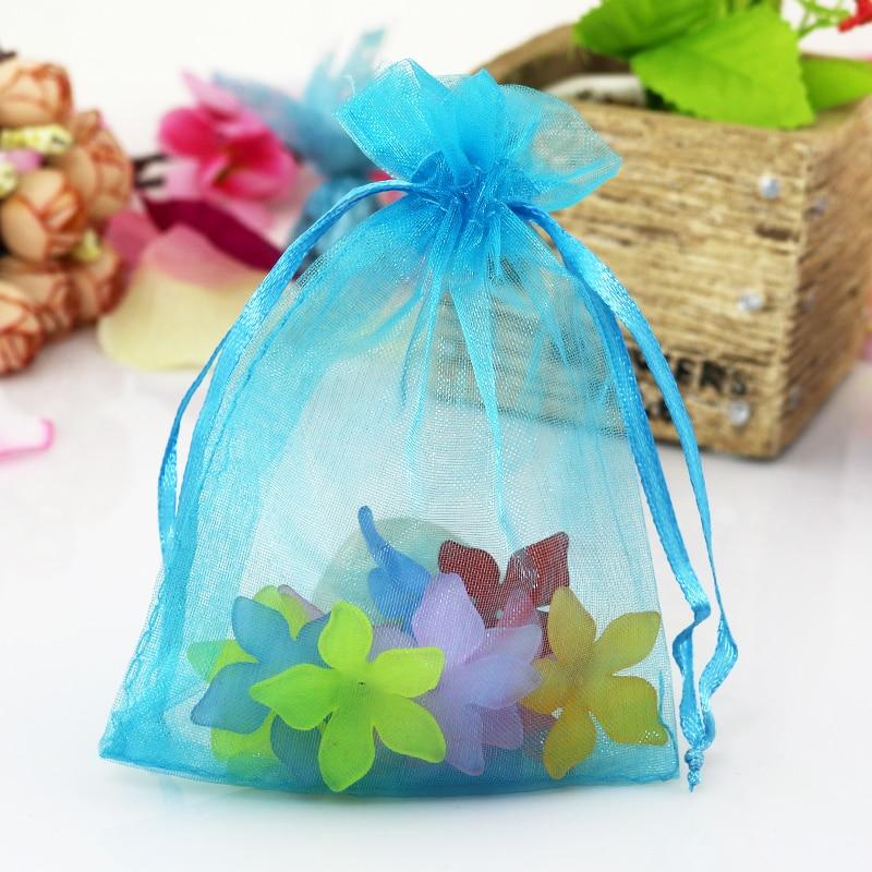 ¡Venta al por mayor! 1000 unids/lote bolsas de regalo de Tamaño 7*9 cm/bolsas para joyería Organza bolsas para boda fiesta cumpleaños Boutique compras