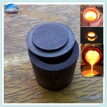 Avec capuchon Dia30x H60mm creuset en graphite de haute pureté utilisé pour lanalyse de matières corrosives spéciales de fusion de métaux précieux
