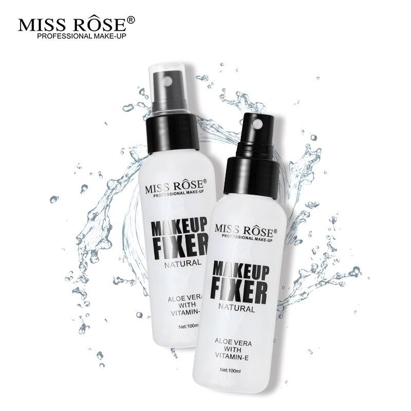100ml MISS ROSE marca maquillaje Set base acabado ajuste Spray fijo fijador maquillaje Aloe Vera niebla atomización cosméticos