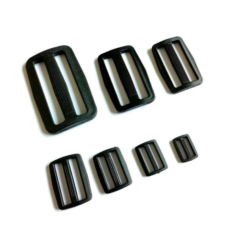10 Uds hebilla de nailon 32mm/38mm/50mm hebillas ajustables tres hebillas para cinturón maleta accesorios correas Moll táctico piezas para mochilas
