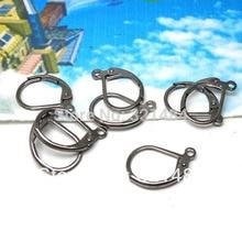 Hot Sale 1000pcs Gunmetal black 10x15mm French Leverback earring hooks wires earwires findings