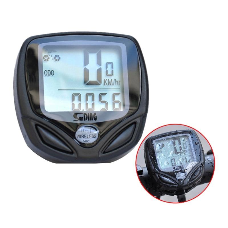 SD-548C de seguimiento de bicicleta MTB inalámbrico, accesorios para bicicleta, impermeable, odómetro, velocímetro, cronómetro para bicicleta