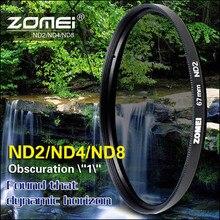 ZOMEI 52/55/58/62/67/72/77/82 ND фильтр нейтральной плотности ND2 ND4 ND8 для Canon Nikon Olympus Sony Pentax Sigma Hoya объектив камеры
