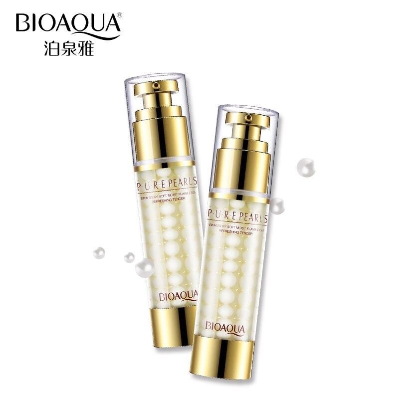 Крем для лица BIOAQUA, отбеливающая эссенция, 60 мл, натуральный жемчужный крем для лица, глубокое увлажнение, против морщин, гиалуроновая кислот...