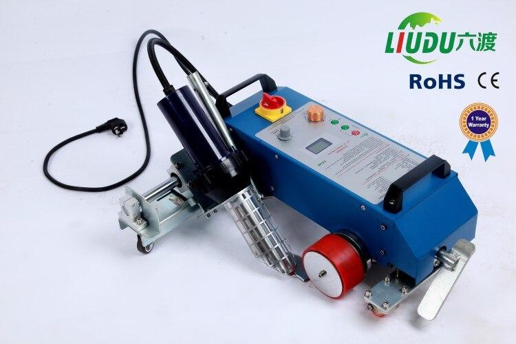 3400W calor ensambladora de PVC máquina del soldador de la bandera para agua disolvente impresora flex banner máquina de costura de aire caliente soldador de flexión