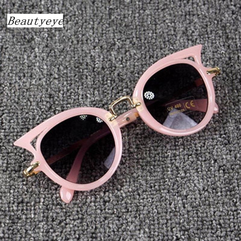 Beautyeye 2018 Kids Sunglasses Girls Brand Cat Eye Children Glasses Boys UV400 Lens Baby Sun glasses