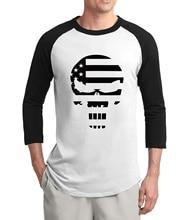American Sniper crâne marine joint t-shirt 2020 offre spéciale été 3/4 manches t-shirts 100% coton hip hop raglan hommes t-shirt