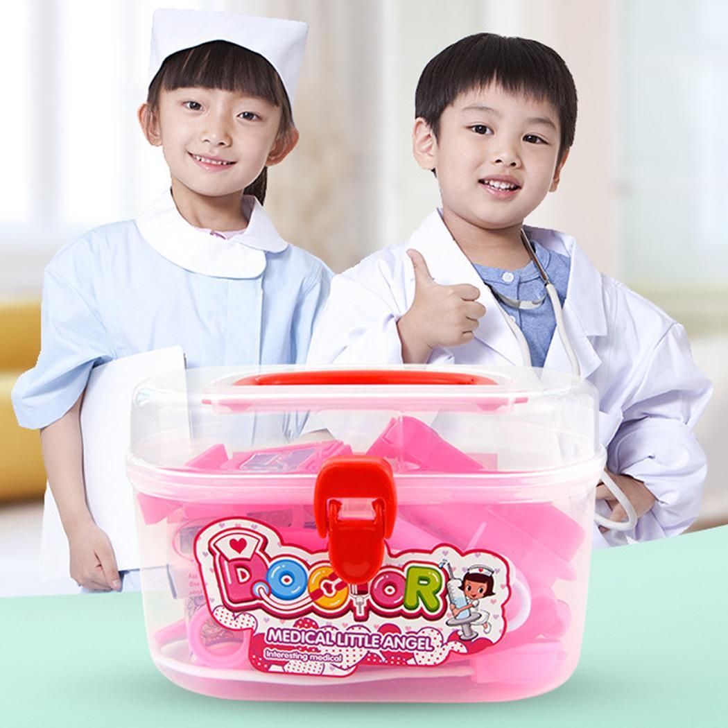 20 шт./кор. детские пластиковые медицинские инструменты коробка набор игрушек