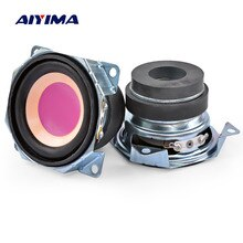 AIYIMA 2 pièces 2 Pouces 4Ohm 3 W Gamme Complète Haut-parleurs Audio 52 MM De Bord De Papier de Mini Bluetooth Haut-Parleur bricolage Cinéma Maison