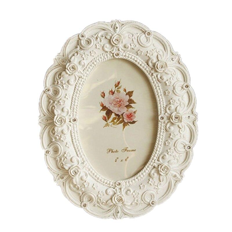 Cadre Photo blanc stéréo fait à la main   Cadre Photo rétro, Style ue, salon, mariage, maison, pastorale, W $