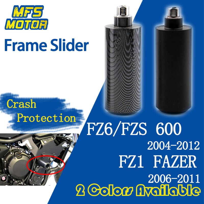 Для Yamaha FAZER FZ6 FZS600 FZ6N FZ-6S FZ1 без рамки слайдер Краш-колодки Защита от падения 2004 2005 2006 2007 2008 2009 2010