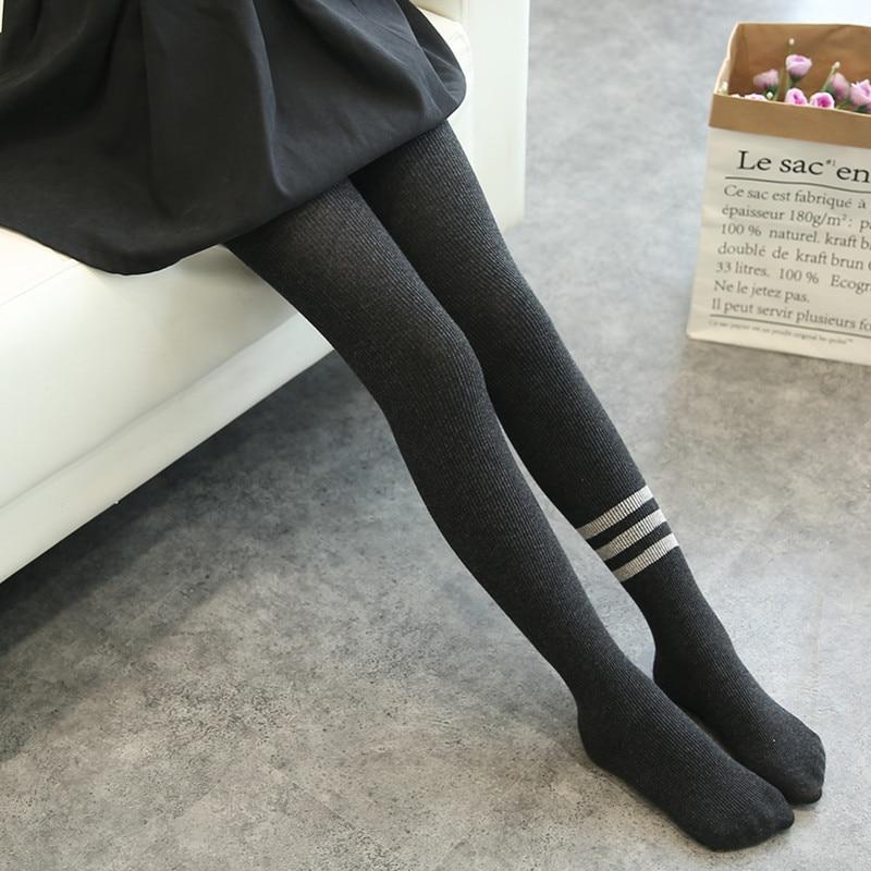 New Girls Tights 2017 Childrens Autumn Winter Leg Warmers Cotton Pantyhose Kids Girl Knee High Socks Child Stockings For Girls