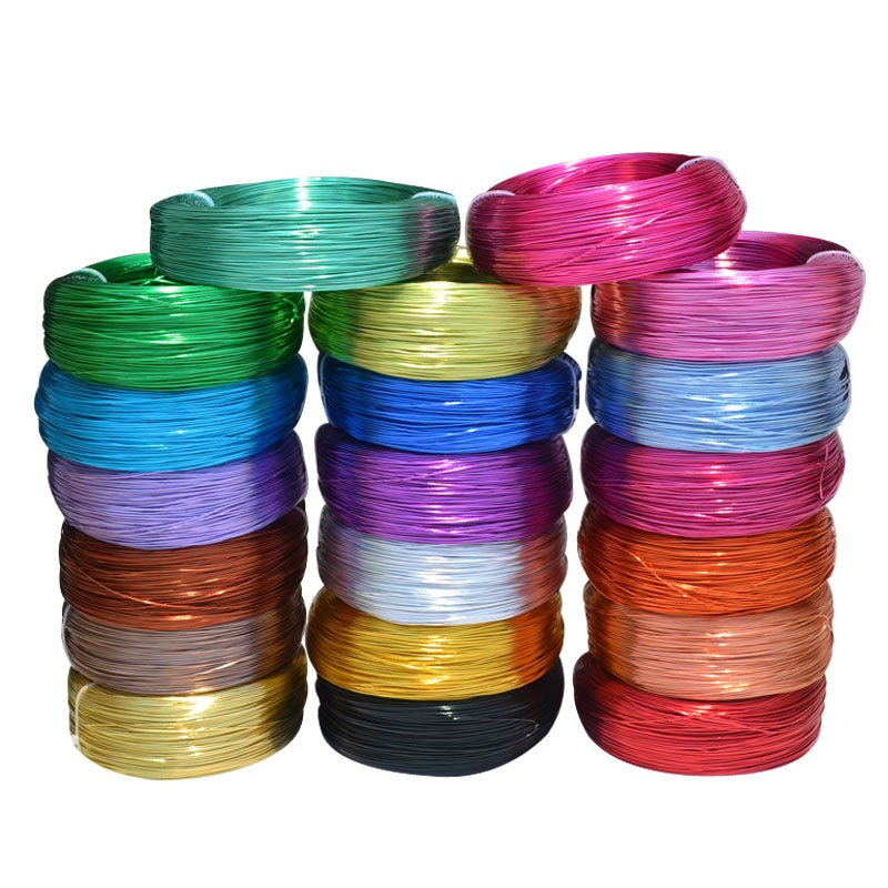 10 Meters / Roll 1mm Round Plated Aluminium Craft Floristry Wire For Jewellery Beads Making Findings