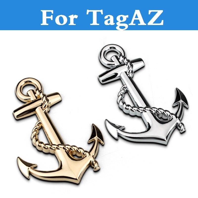 2017 3D Metal ancla Cruz Marina pegatinas emblema etiqueta coche de estilo para TagAZ Aquila C10 C190 C-30 camino socio Tager vega