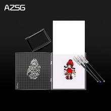 AZSG Stamp Block Transparency Acrylic pad for DIY Scrapbooking Clear stamps DIY Scrapbook photo album Decorative