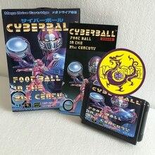 Cyberball Foot Ball au 21sc siècle avec boîte et manuel 16bit MD carte de jeu pour Sega Mega Drive pour Genesis